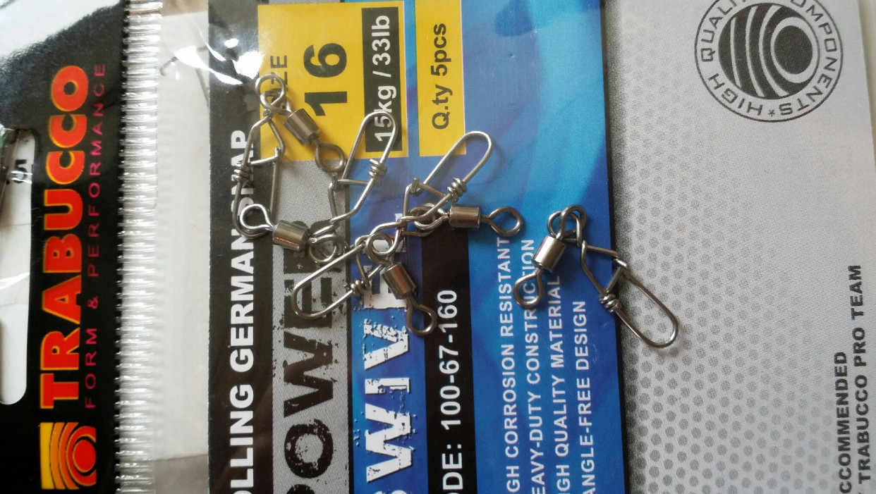 German Rolling Snap Swivels  great for lure fishing