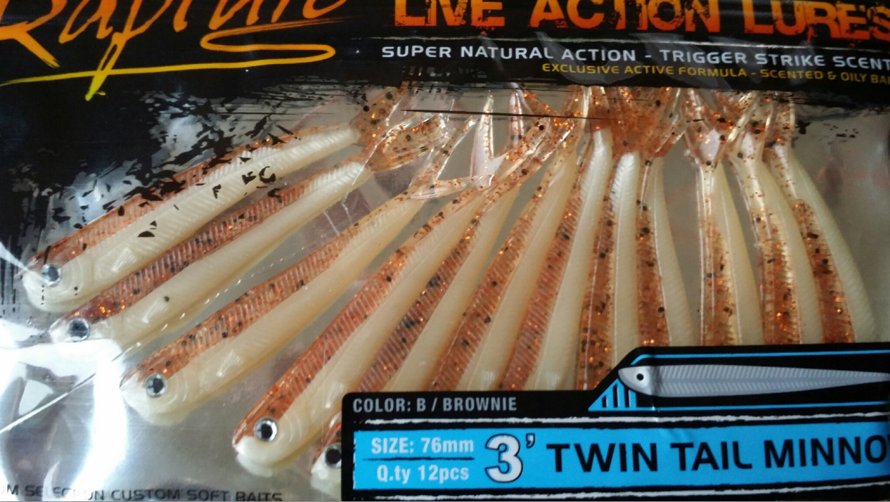 TWIN TAILED MINNOWS 3 inch and 4 inch 00257