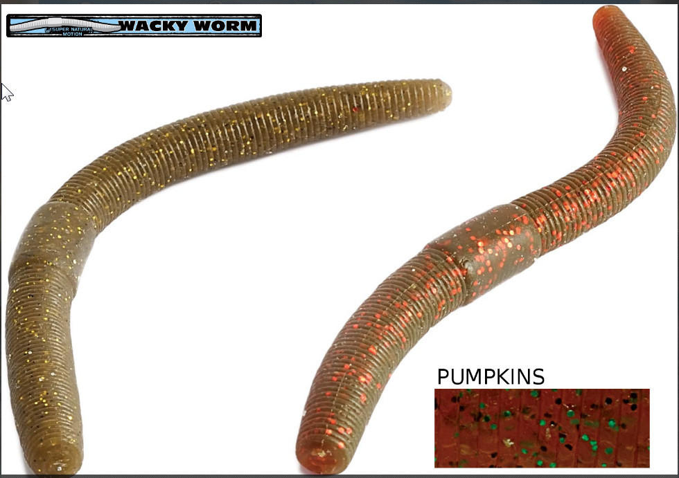 wacky worm    5 inch    10 per pack 5 colours 00266