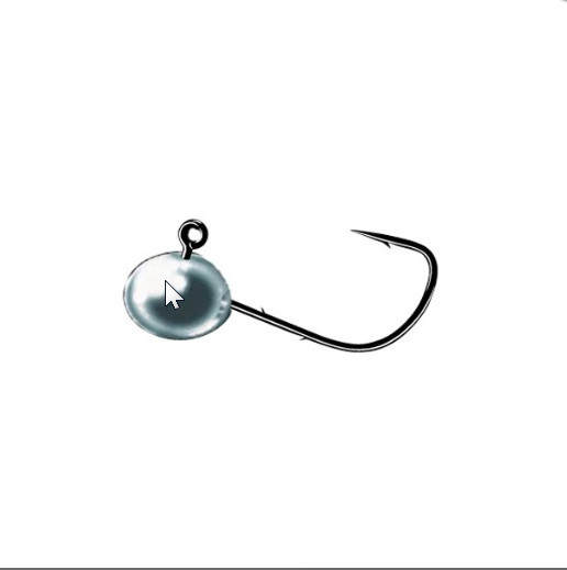 Micro jig heads for small soft plastics with retaining barbs  3 per pack 00265