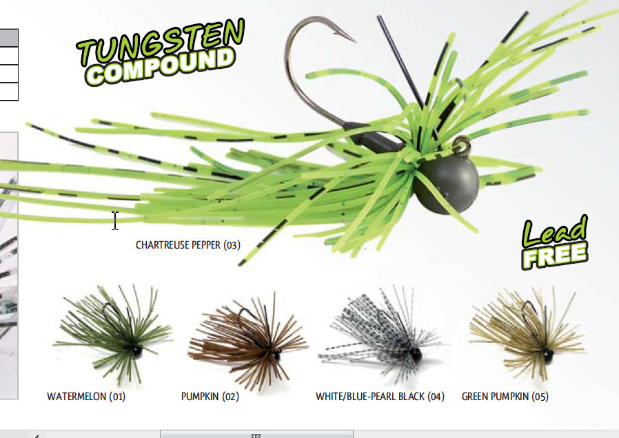 Tungsten Finesse rubber  Jig  1/16 oz  and 1/8th oz  size 1 hooks 00278