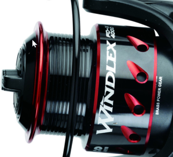Windlex fd-x  2000 to 4000 size. perfect light spin reel with match spool for braid 00281