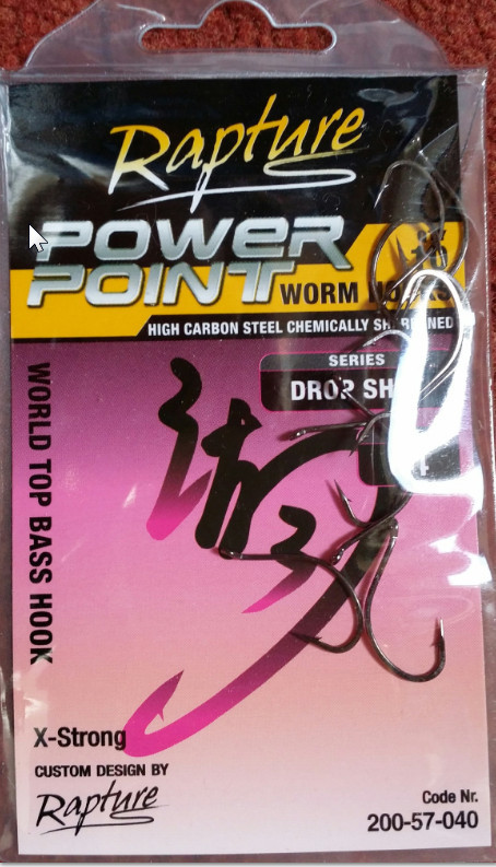 Drop shot hooks for soft plastics 00306