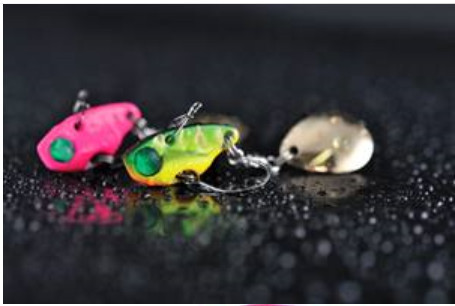 CHIBI VIBE SPIN  new 2015 spcial perch lure 22mm 3.7g barbless.