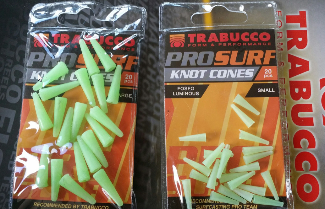 Surf casting knot cones. protect your swivels and knots