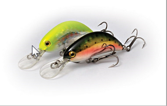Hot Bean light lure fishing wobbler  40mm  3.5g 00343