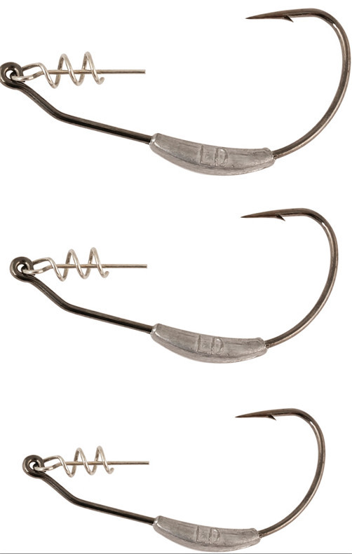 Advanced spring lock texas rig weighted hooks for soft lures