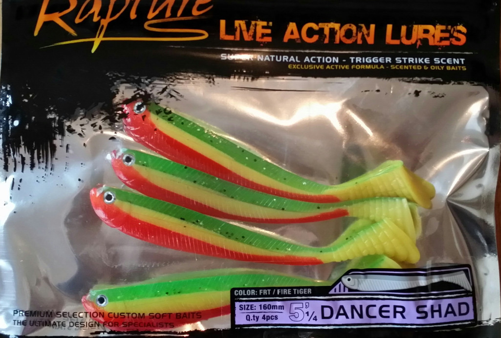 Dancer shad    5 .5 inch    4 per pack 00364