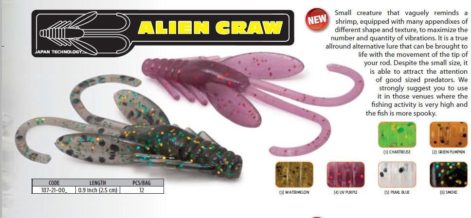 Alien Craw .   0.9 inch 12 pcs 00375