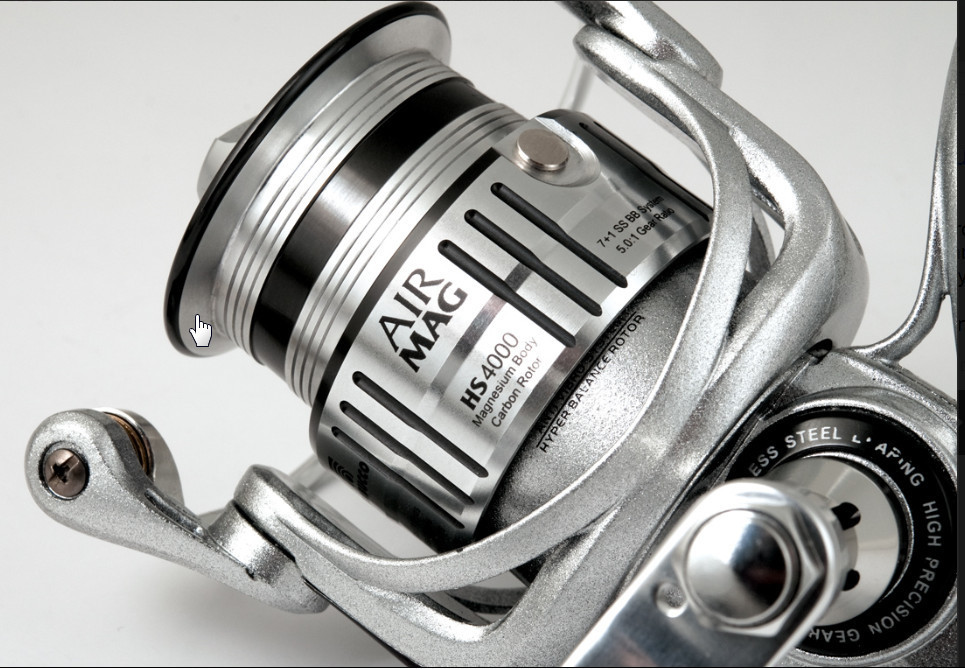 Airmag HS FD 3000 Ultra light magnesium bodied spinning reel 00379