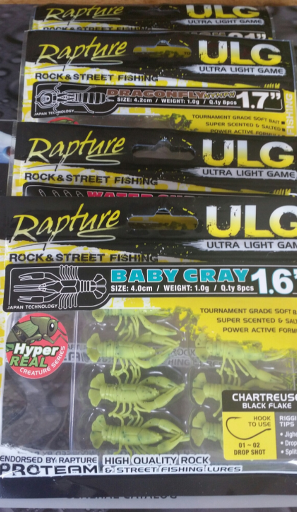 ULG Crayfish  2.1 inch  8 per pack  new for 2016