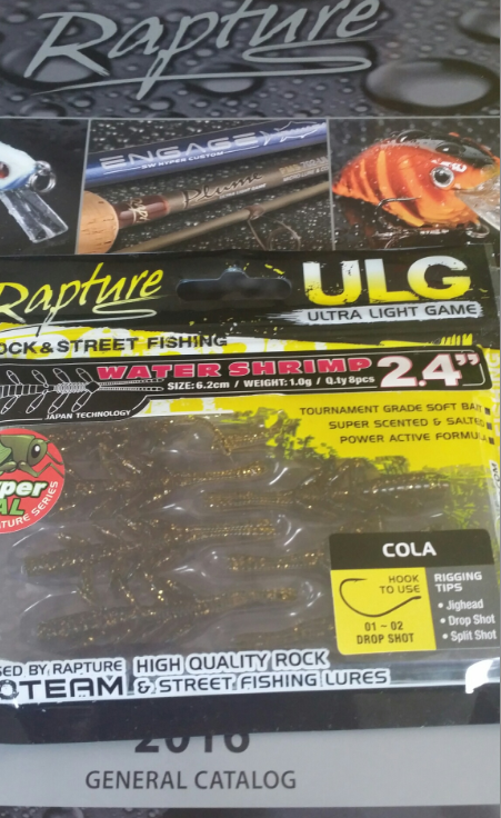 ULG Water shrimp   2.4 inch 8 per pack New for 2016