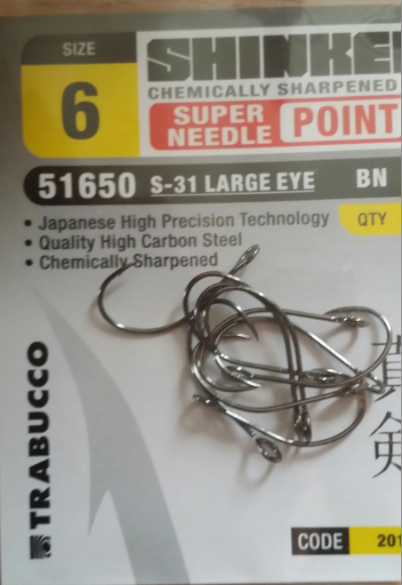 shrinken S-31 big eye hooks for metal lures 00409