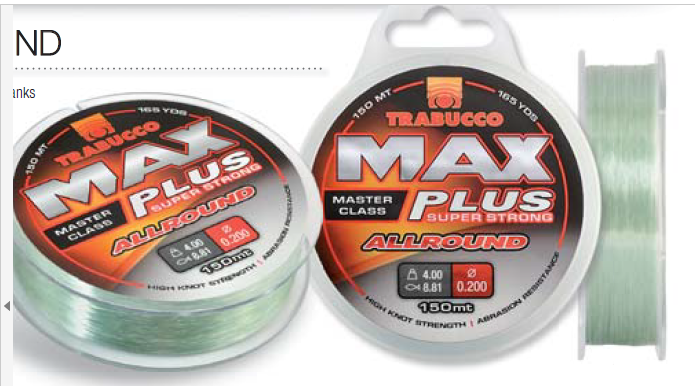 Max Plus super strong all round 150m spools leader and rig line 00413