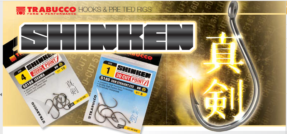 Hooks Shinken Pint 53117 Trabucco Surfcasting 10 pcs sizes 2 to 8 00418