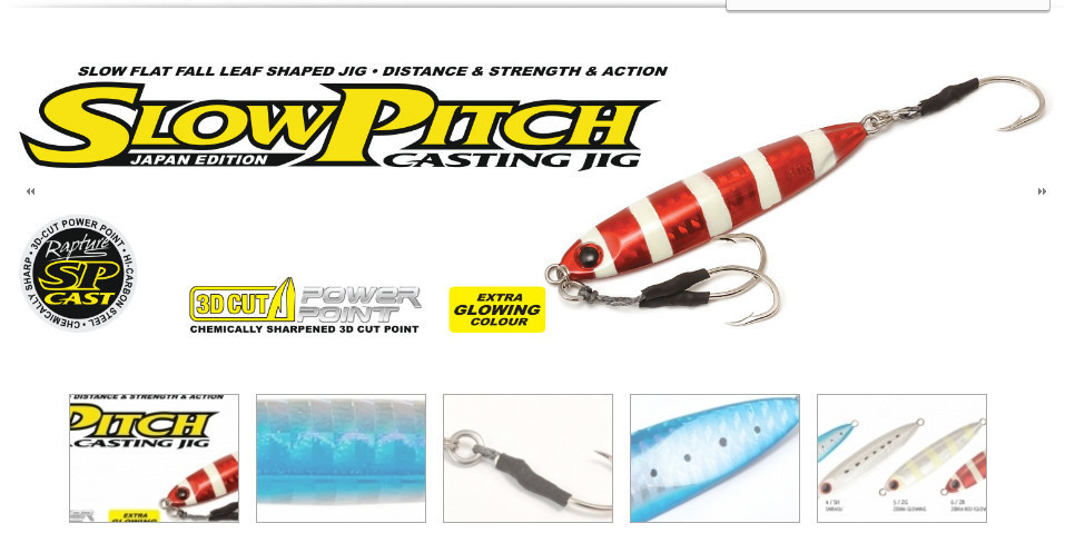 Rapture Slow pitch casting jigs 60g 00432