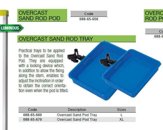 overcast sand pod tray size large now in stock tiltable and adjustable. 2 sizes