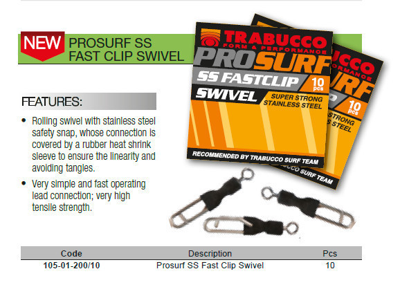 Pro surf quick link with swivel in heat shrink sleeve  10 per pack 00448
