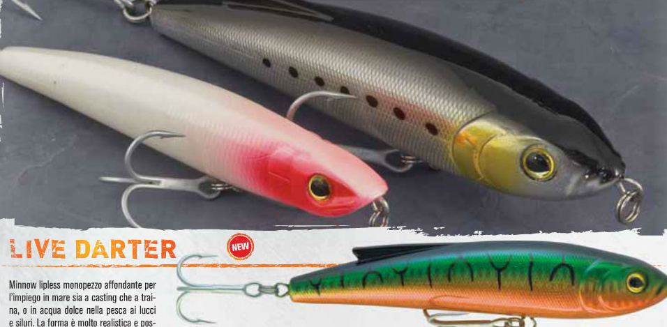 Live Darter lipless minnow for game fish 00462