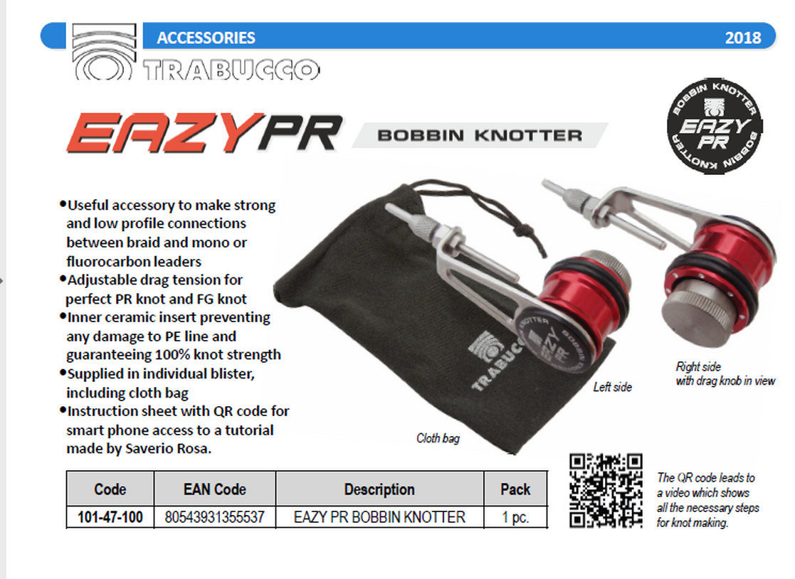 Eazy PR Bobbin Knotter. the best way too get 100% low profile braid to mono leader knots. 00469