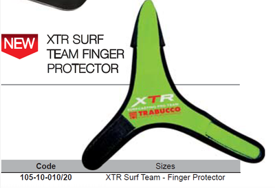 Finger protector for surf casting XPS surf