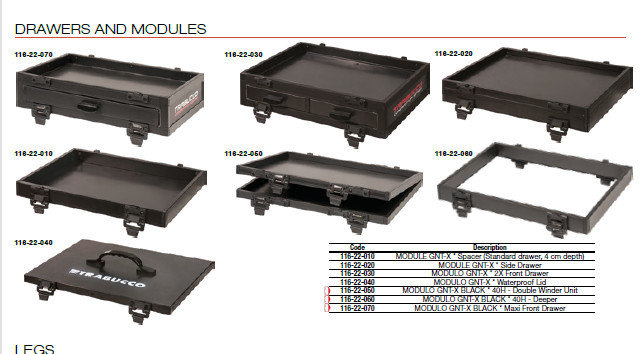 GNT X  SIDE DRAWERS AND MODULES 00514