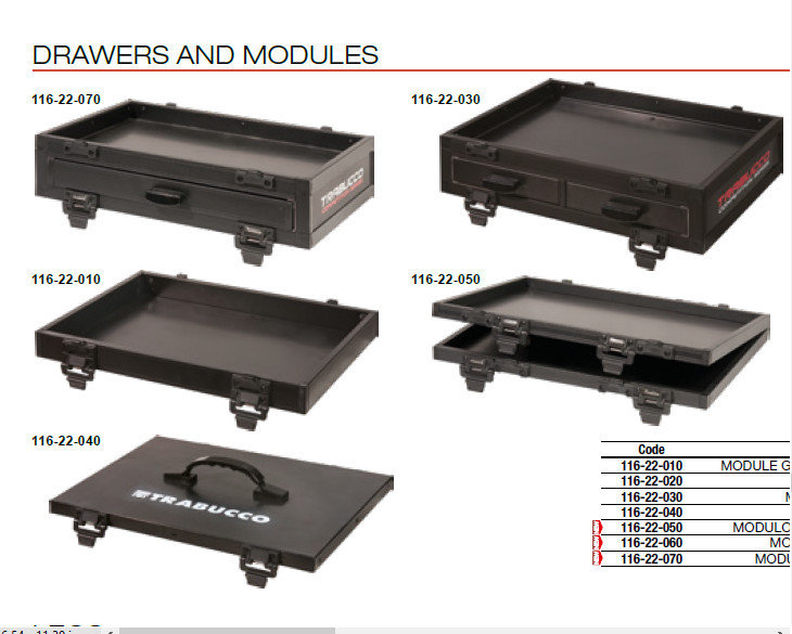 GNT X  SIDE DRAWERS AND MODULES