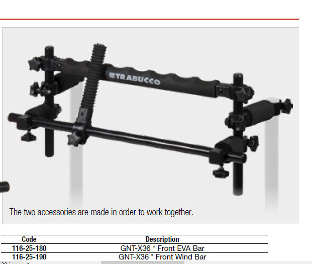 GNT X36 front EVA bars ( 2 work together) 00524