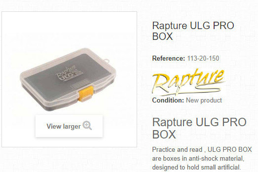 ULG Pro box  for holding jig heads in foam