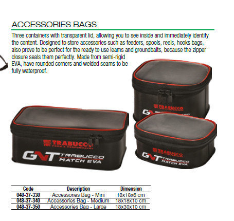 Accessory bags    3 sizes 00537