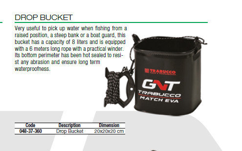 Drop Bucket with Lanyard