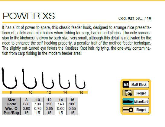 Power XS hooks  FEEDER HOOK