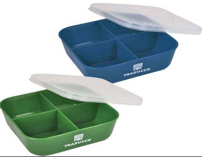 4 DIVISION BAIT BOX  BLUE OR GREEN 00552