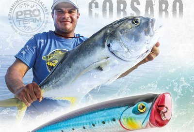 Corsaro and Mega Jet Poppers lure for large and tropical fish 140mm and 155 mm