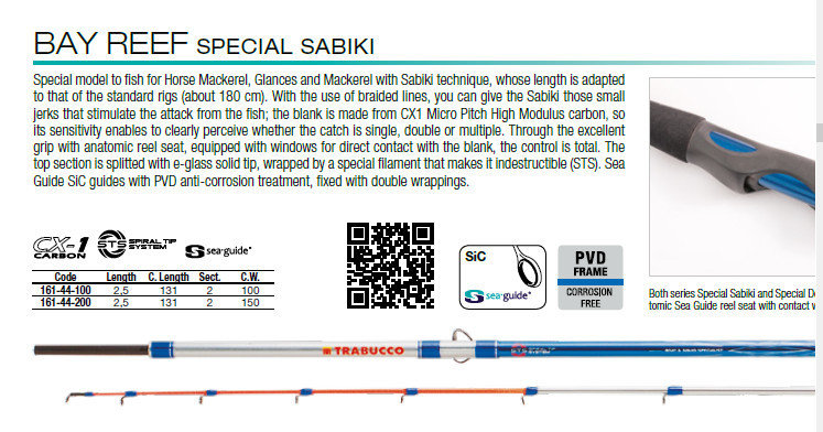 Bay reef special sabiki  2.5mt 150g 12lb class   STS unbreakable tip, perfect for feathers and sabikis for bait 00565