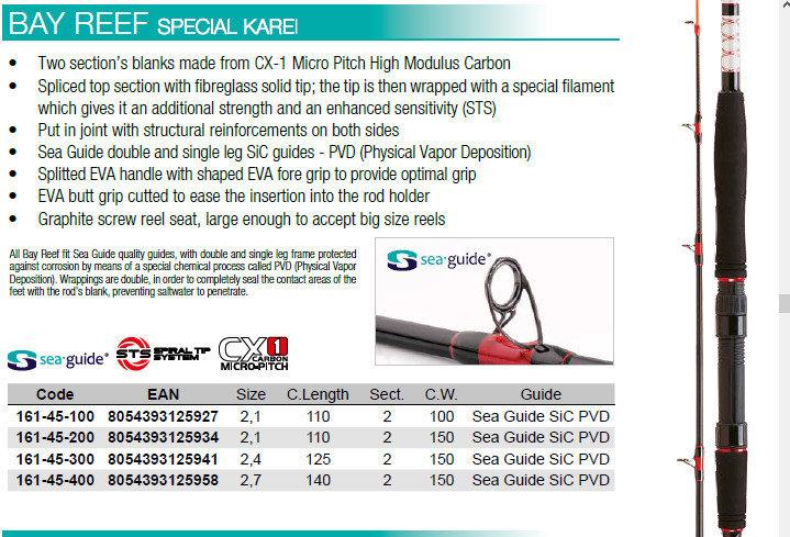 Bay reef special Karei 12lb class 240 150g 00566