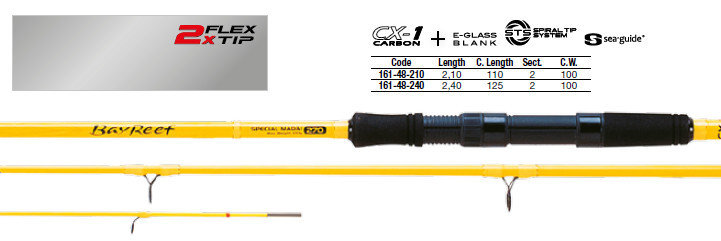 Bay reef special madai  2 flex tips 240  and 270 100g 6lb class