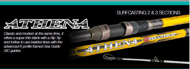 Athena Evolution GT 2 piece UK spec surf casting rod 3.95m and 4.15m