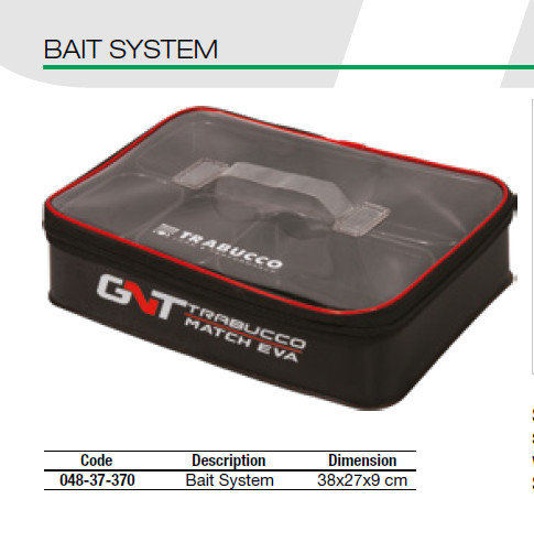 GNT EVA Eva Bait system with zipped cover and 4 trays