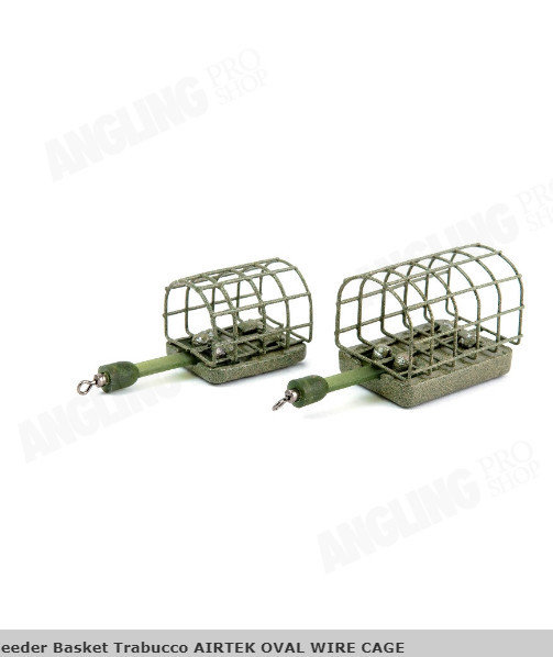 Oval wire  Cage feeder 30g 2 per pack  Trabucco Airtek  small size 00581