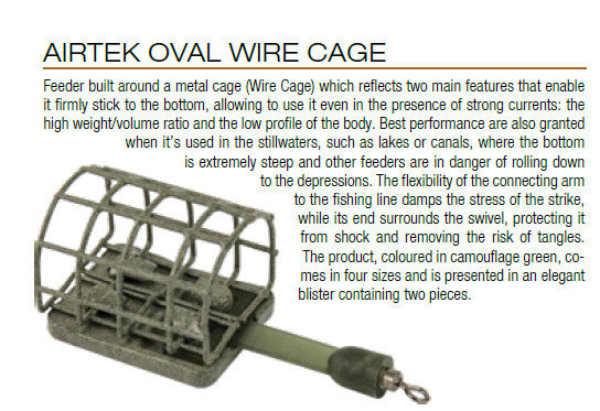 Oval wire  Cage feeder 30g 2 per pack  Trabucco Airtek  small size