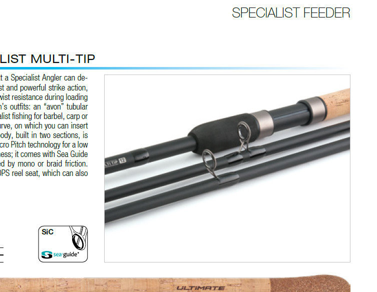 Ultimate specialist twin tip Barbel rod 12 ft 2.25 tc and 1.75 tc quiver tip sections