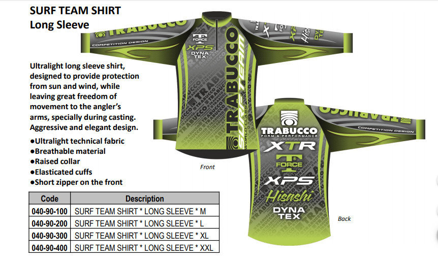 Surf Team Shirt long and short sleeve Breathable technical fabric   wind and sun proof. 00601