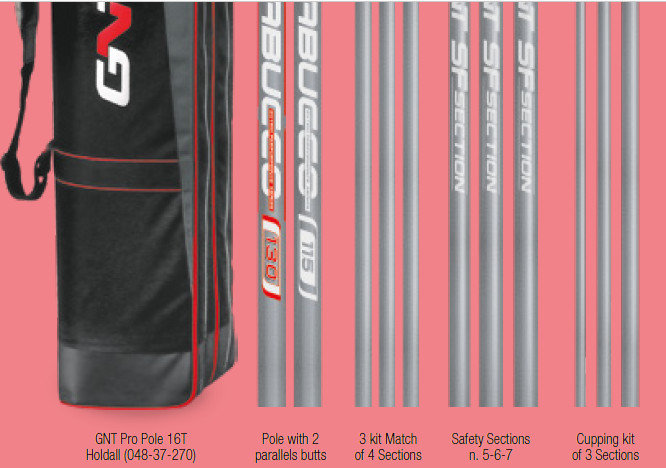 GNT X75 Match One Pole Uk spec  5 tops 13m  lightest and fastest 13m redglass pole on the market