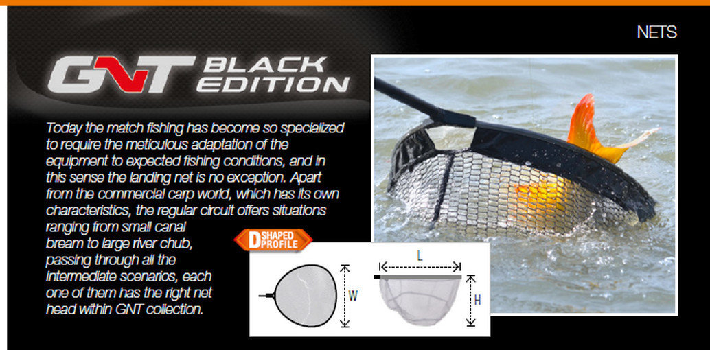 GNT Black E. Head*QuickDry 8/Round 55 45 30 4x8 landing net 00607