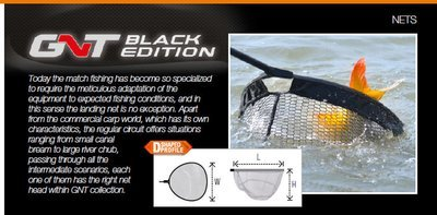 GNT Black E. Head*QuickDry 8/Round 55 45 30 4x8 landing net