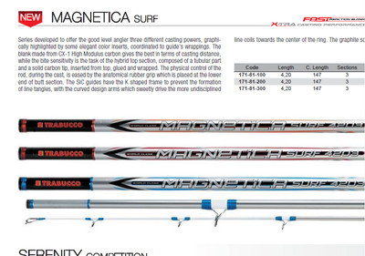 MAGNETICA SURF  4.2    250G CASTING WEIGHT  SOLID TIP    NEW 2016