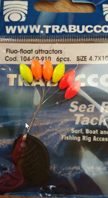 fluo float stops 4.7mm    6 pcs