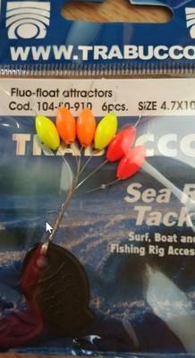 fluo float stops 4.7mm 6 pcs