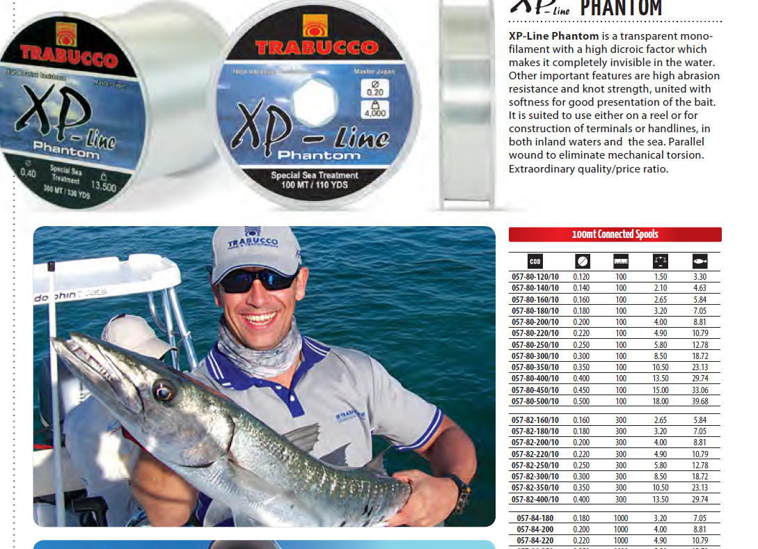 XP LINE PHANTOM   MAX PLUS  300M AND 1000M  AVAILABLE